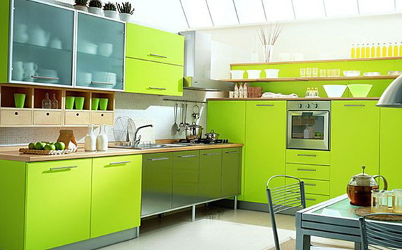 6-green kitchen