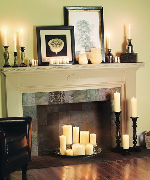 7-fireplace with candles