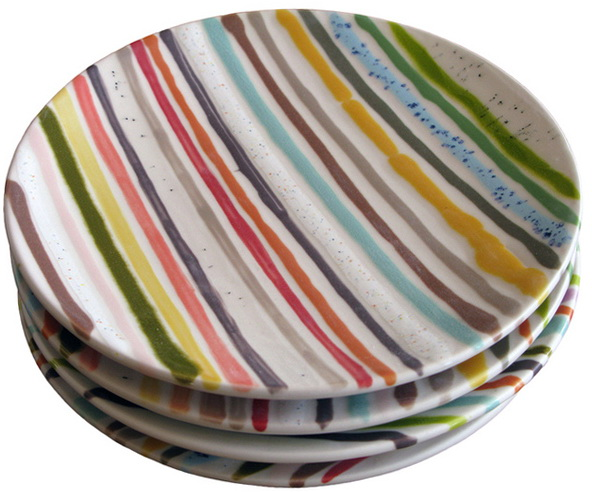 9-striped plates