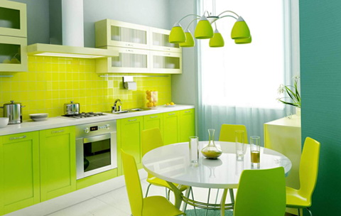 12-light green kitchen