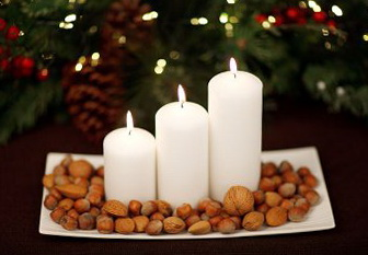2-white candles