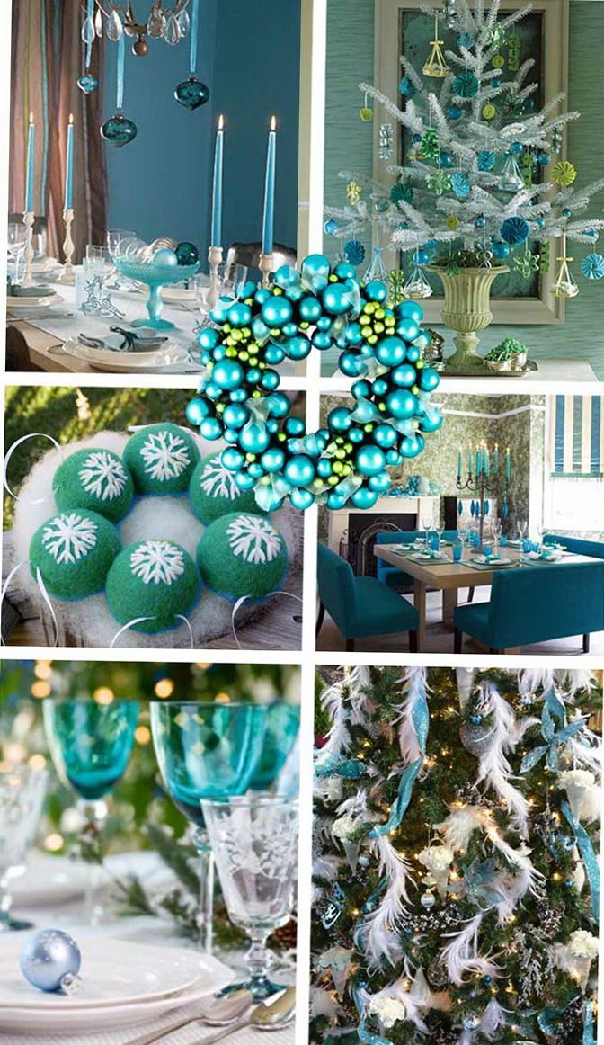 Christmas decorations in blue interior home interior Christmas decorations interior design