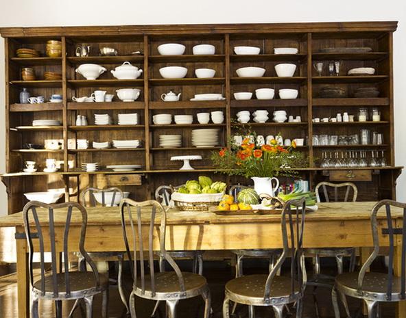4-open shelves