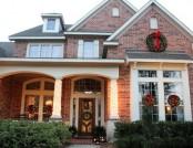 Door decoration in Christmas holidays