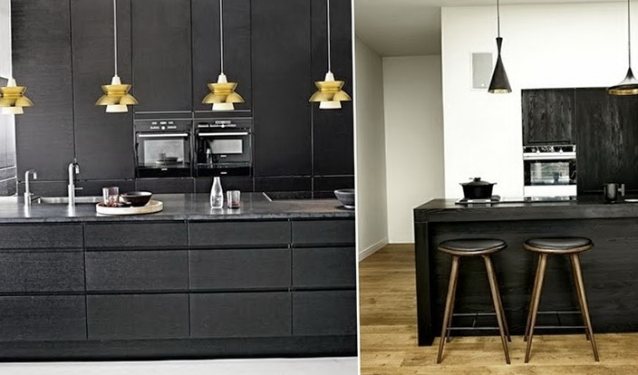 5-dark black kitchen
