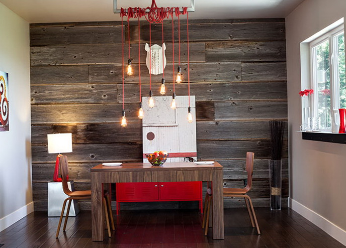 Wood Wall Interior Design a Wooden Wall In The Interiorhome Interior Design Kitchen And