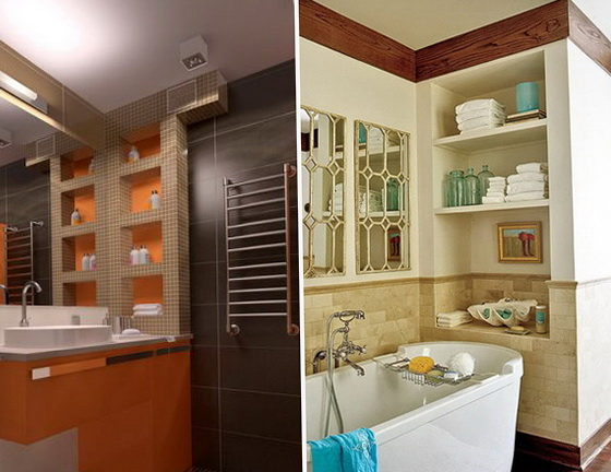 6-niches in the bathroom
