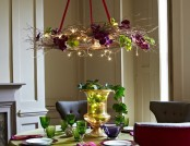 Application bright garlands in the Interior