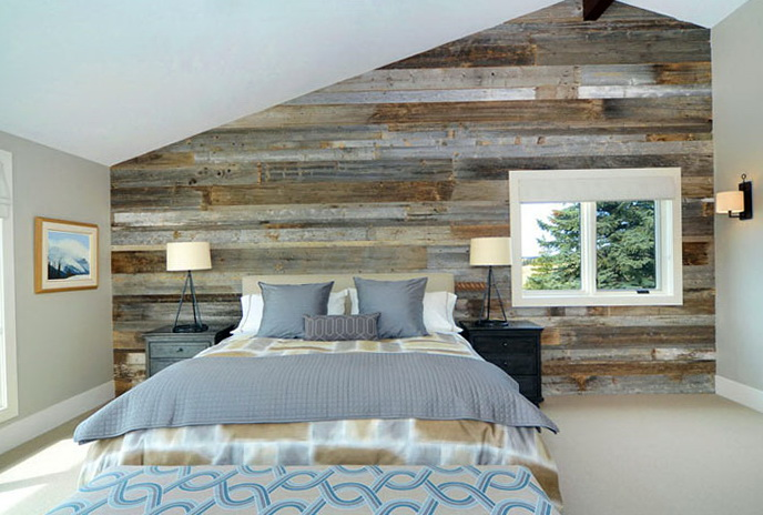 Wooden wall in the interior Home Interior Design
