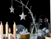 Making New Year's interior in black and white