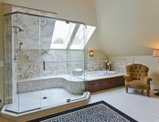 Harmonious Bathroom with shower