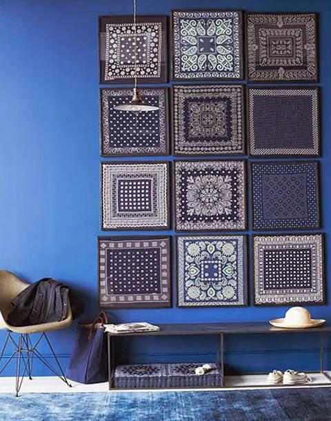 6 blue wall - Blue Wall Decor