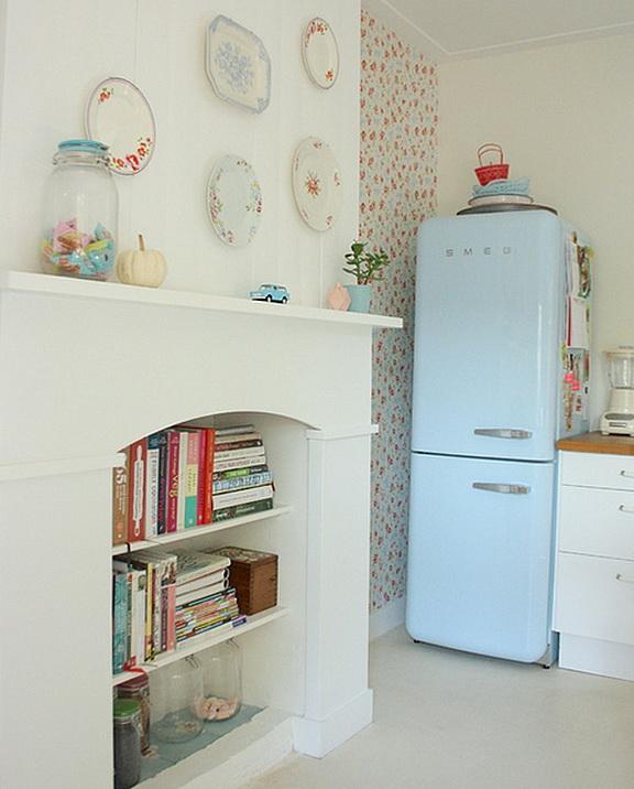 Bright Kitchen In Retro Style Home Interior Design
