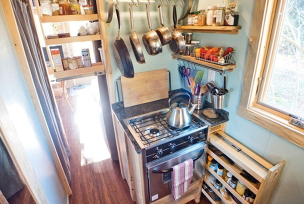 Superb Tiny House For Two Family Members Home Interior Design Kitchen Largest Home Design Picture Inspirations Pitcheantrous