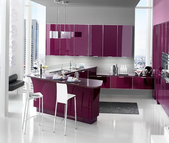 Black And White Loft Bedroom Bedroom Decorating Ideas Diy Paint Colors For Bedroom Bedroom Curtains Kmart: Purple And Lilac Kitchen In The Interior