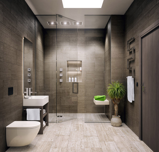 Gray bathroom by Bijou Bathrooms