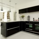 Black interior for kitchen