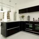 Black interior for kitchen