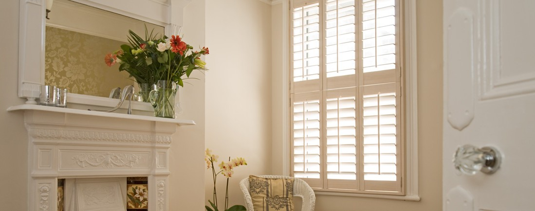 White Window Shutter
