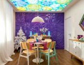 Super Bright Dining Room: Purple, Orange & Blue