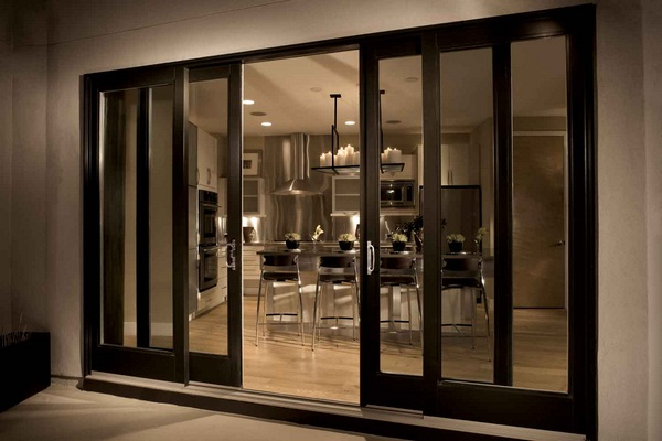 Marvelous 0 Glazed Sliding Doors In Interior Design Living