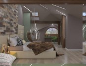 Naturalistic Attic Interior Design
