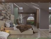 Naturalistic Attic Interior Design
