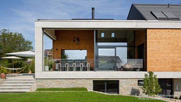 Great 0 Swiss Minimalist Modern Architecture House With Terrace