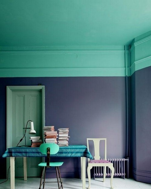 1-2-non-white-painted-colorful-turquoise-ceiling-in-the-work-room-purple-wall-color