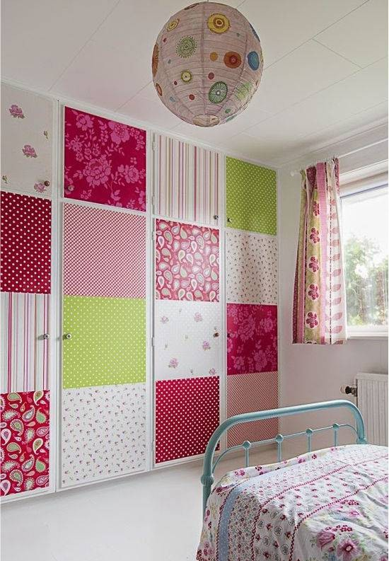 ... 1 3 Patchwork Wallpaper In The Toddler Bedroom