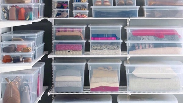 1 5 Wardrobe Storage Ideas Closet Organization Transparent