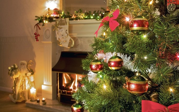 1-christmas-tree-spruce-balls-fireplace-cozy-room