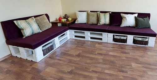 1 Diy Hand Made Pallet Furniture Corner Sofa