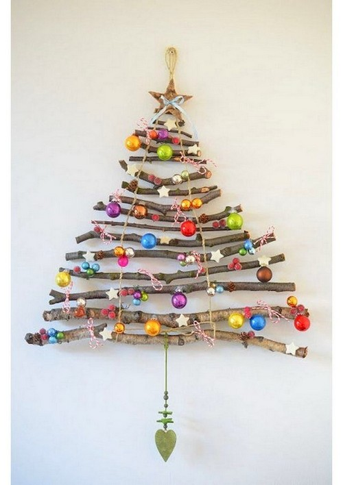 1 diy hand made wall christmas tree branches