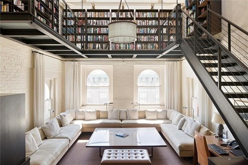 1-home-library-ideas-book-storage-mezzanine-floor