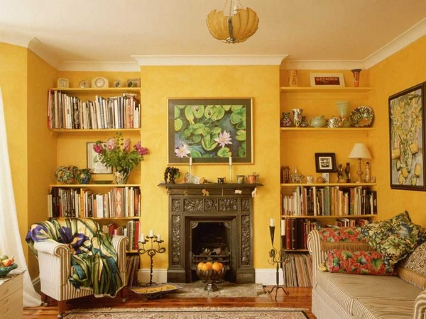 1-interior-for-sanguine-yellow-walls-living-room-fireplace-bright-colors