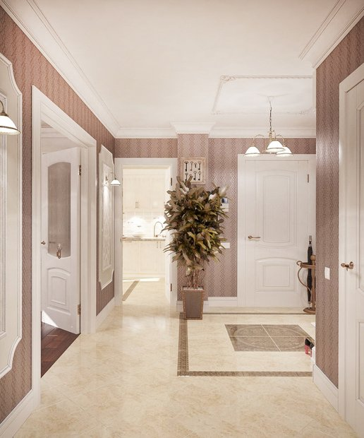 1-neo-classical-style-pastel-hallway-stripy-wallpaper-beige-floor-tiles-white-foors