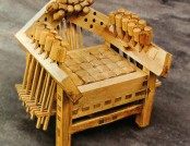 Soft (!) 100 % Wooden Designer Chair: One of a Kind