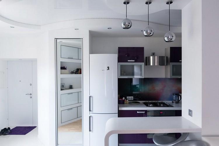 10-futuristic-interior-style-white-and-purple-living-room-mirror-pendant-ball-lamps