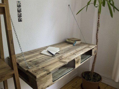 Pallet furniture in interior design 20 ideas home - Paletten schreibtisch ...