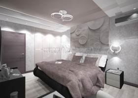 11-tortora-dove-gray-interior-bedroom-futuristic-lamp-3D-wall-panel-decor-built-in-closet