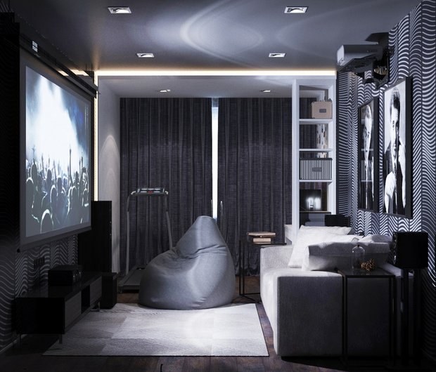 12-gray-beige-brown-interior-for-man-home-cinema-sofa-arm-chair-dark-wallpaper