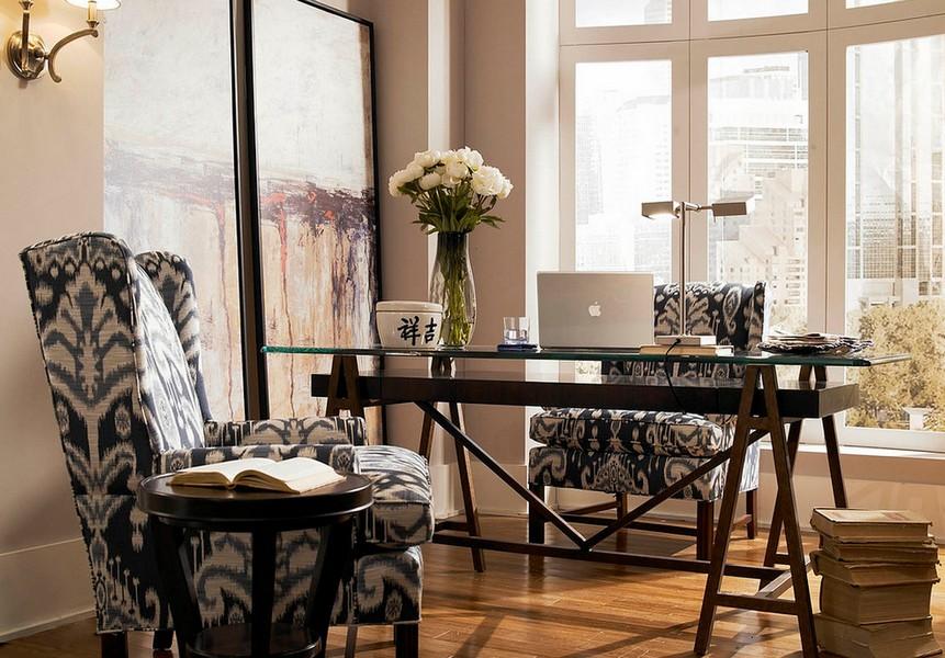 12 Home Office Design Elegant Chair Big Windows