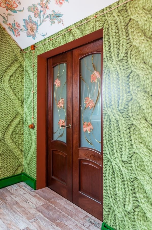 12-orange-white-green-color-floral-pattern-russian-provence-attic-floor-interior-design-latex-digital-printing-ceiling-3D-wallpaper-knitwear-effect