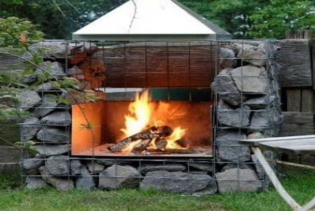 12-unusual-designer-fire-pit-stone-gabion-outdoor-fireplace