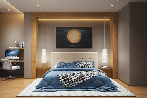 13-bedroom-lighting-bedside-and-ceiling-lights-on-the-same-level