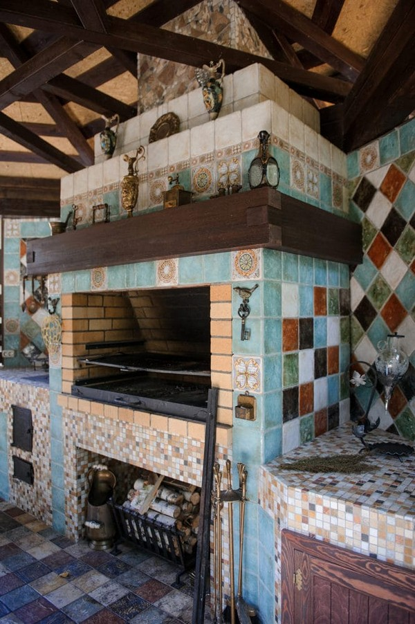 13-beige-and-turquoise-garden-gazebo-design-multicolor-ceramic-tiles-mosaic-tabletop-vintage-barbecue-set-outdoor-fireplace-brass-decor