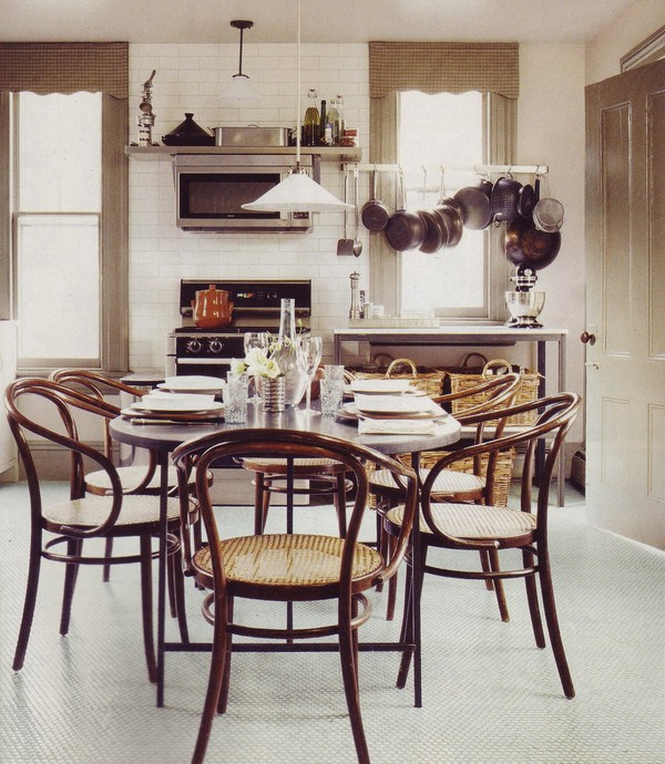 13 Bentwood Chairs In Modern Interior Dining Room