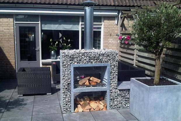 13-unusual-designer-fire-pit-stone-gabion-outdoor-fireplace