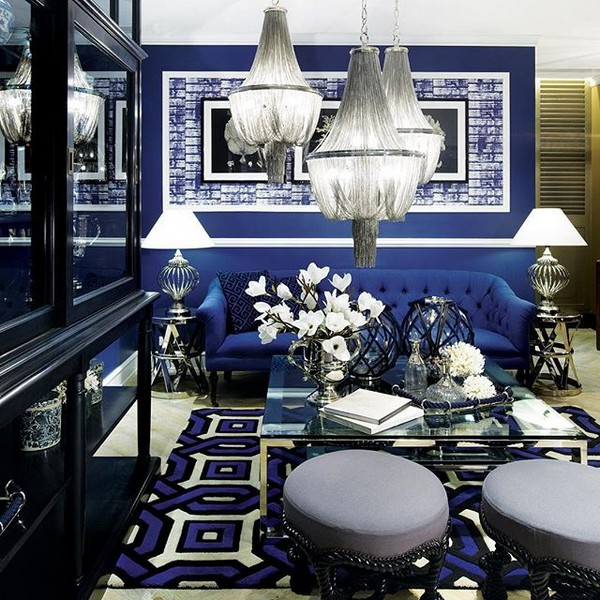 Deep Blue Color In Latest Interior Collections Home